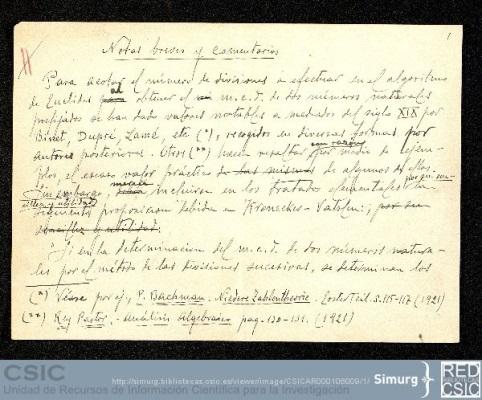 Notas breves y comentarios de José Barinaga Mata para la Revista Matemática Elemental 1933